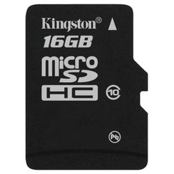 microsdhc 16gb (kingston sdc10/16gbsp)