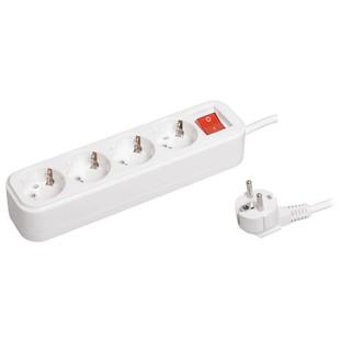 Удлинитель 4 розетки 3м (Iek WYP11-16-04-03-ZK) (белый) - Сетевой фильтр