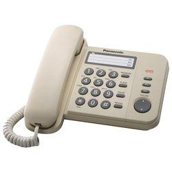 Panasonic KX-TS2352RUJ (бежевый)  - Проводной телефон