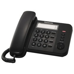 Panasonic KX-TS2352RUB (черный) - Проводной телефон