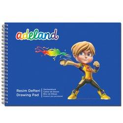 Альбом для рисования на спирали Adel ADELAND 35 х 25 см - КраскаХобби и творчество<br>Альбом для рисования на спирали Adel ADELAND имеет 15 листов.
