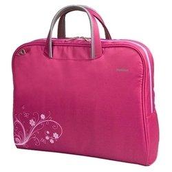 PortCase KCB-50/51/52 (розовый) - Сумка для ноутбукаСумки и чехлы<br>PortCase KCB-50/51/52 - сумка, женская модель, для 16quot; ноутбуков, из синтетических материалов, отделение-органайзер, водонепроницаемый материал