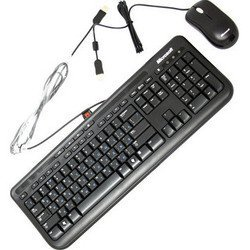 Microsoft Wired Keyboard+Mouse 600, USB (черный) - Клавиатура