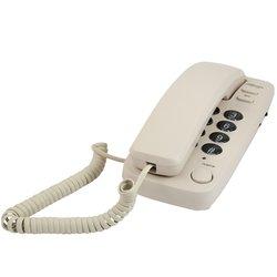 Ritmix RT-100 (бежевый) - Проводной телефонПроводные телефоны<br>Проводной телефон: повторный набор номера, настенная установка.