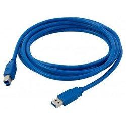 Кабель USB3.0 USB A (m) - USB B (m) 1.5м (синий) - Кабель, переходник