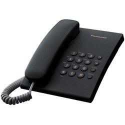 """Panasonic KX-TS2350RU (черный) - Проводной телефонПроводные телефоны<br>Panasonic KX-TS2350RU - проводной телефон, повторный набор последнего номера, кнопка """"флэш"""", переключение тонального/импульсного набора, регулировка громкости звонка, регулировка громкости динамика, возможность установки на стене."""