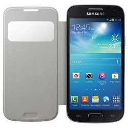 чехол для samsung galaxy s4 mini i9192 (s-view ef-ci919bwegru) (белый)
