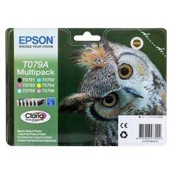 Комплект картриджей для Epson Stylus Photo 1500W, P50, PX660, PX660+, PX720WD, PX730WD, PX820FWD, PX830FWD (Epson T079A4A10) (6 шт)  - Картридж для принтера, МФУКартриджи<br>Совместим с моделями: Epson Stylus Photo 1500W, P50, PX660, PX660+, PX720WD, PX730WD, PX820FWD, PX830FWD