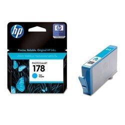 Картридж для HP Photosmart B8553, C5383, C6383, D5463, C309h, C310b, C309c, C410c (CB318HE №178) (голубой) - Картридж для принтера, МФУКартриджи<br>Совместим с моделями: HP Photosmart B8553, C5383, C6383, D5463, C309h, C310b, C309c, C410c