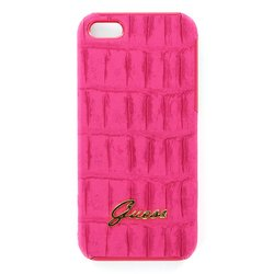 чехол для apple iphone 5 (guess gup5cmpi hard case croco matte) (розовый)