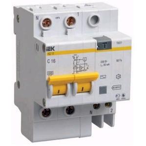 Дифференциальный автомат Iek MAD10-2-063-C-300 - Дифференциальный автоматДифференциальные автоматы<br>Дифференциальный автомат АД12 2Р, 63А, 300мА.