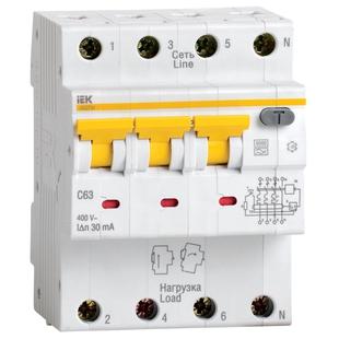 Автоматический выключатель дифференциального тока АВДТ34 C10 (Iek MAD22-6-010-C-30) - Дифференциальный автоматДифференциальные автоматы<br>Автоматические выключатели дифференциального тока АВДТ34 предназначены для защиты человека от поражения электрическим током при повреждении изоляции электроустановок, для предотвращения пожаров вследствие протекания токов утечки на землю и для защиты от перегрузки и короткого замыкания в сетях переменного тока напряжением 400 В и частотой 50 Гц.
