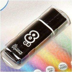 SmartBuy Glossy 8GB (черный) - USB Flash driveUSB Flash drive<br>SmartBuy Glossy 8GB - флэш-накопитель 8 Гб, интерфейс USB 2.0, материал корпуса: пластик