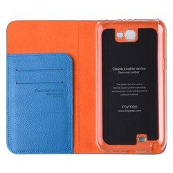 чехол для samsung galaxy note 2 (imymee gn2c53141-cbl classic leather) (синий)