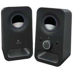 Logitech Z150 (черный) - Колонка для компьютераКомпьютерная акустика<br>Logitech Z150 - компьютерная акустика стерео, суммарная мощность 6 Вт, однополосные колонки, разъем для наушников