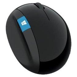 Microsoft Sculpt Ergonomic Mouse L6V-00005 Black USB (черный) - МышьМыши<br>Microsoft Sculpt Ergonomic Mouse L6V-00005 Black USB - беспроводная мышь (радиоканал), для настольного компьютера, светодиодная, 3 клавиши , интерфейс USB