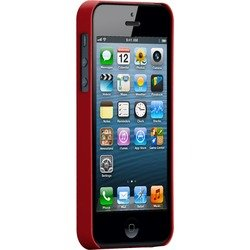 чехол для apple iphone 5, 5s (case matte barely there cm022404) (красный)