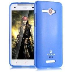 Чехол для HTC J Butterfly (Imuca YT000003522) (синий) + защитная пленка и стилус - Чехол для телефонаЧехлы для мобильных телефонов<br>Стильный чехол плотно облегает корпус и гарантирует надежную защиту от потертостей и других нежелательных внешних повреждений.