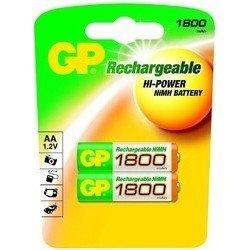 Аккумуляторная батарея АА (GP 180AAHC-UC2) (1800mAh, 2 шт) - Батарейка, аккумуляторБатарейки и аккумуляторы<br>Благодаря аккумуляторам, Ваш фотоаппарат или любое другое устройство проработает дольше и не подведет в самый нужный момент.