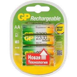 Аккумуляторная батарея АА (GP 230AAHC-2CR4) (2300mAh, 4 шт) - Батарейка, аккумуляторБатарейки и аккумуляторы<br>Благодаря аккумуляторам, Ваш фотоаппарат или любое другое устройство проработает дольше и не подведет в самый нужный момент.
