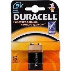 Алкалиновая батарейка крона (Duracell 6LR61-1BL Basic) (9V) - Батарейка, аккумуляторБатарейки и аккумуляторы<br>С батарейкой Duracell Ваше цифровое устройство проработает дольше и не подведет в самый нужный момент.