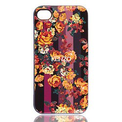чехол-накладка tpu для apple iphone 4, 4s (kenzo 14185) (вид 1)