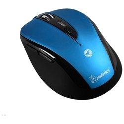 SmartBuy SBM-612AG-BK Blue-Black USB - МышьМыши<br>SmartBuy SBM-612AG-BK Blue-Black USB - беспроводная мышь (радиоканал), для ноутбука, светодиодная, 7 клавиш , разрешение сенсора мыши 2000 dpi, интерфейс USB