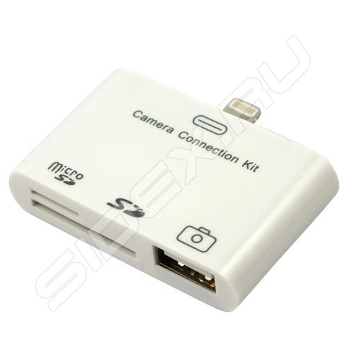 iphone camera connection kit картридер usb sd microsd для iphone ipod 15202