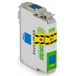 Картридж для Epson Expression Home XP-33, 103, 203, 207, 303, 306, 403, 406 (Cactus CS-EPT1712) (голубой) - Картридж для принтера, МФУ