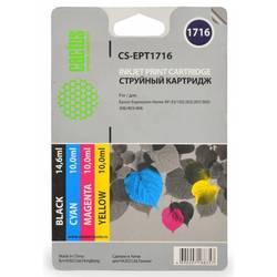 Комплект картриджей для Epson Expression Home XP-33, 103, 203, 207, 303, 306, 403, 406 (CS-EPT1716) (черный, желтый, голубой, пурпурный) (увеличенная емкость) - Картридж для принтера, МФУ