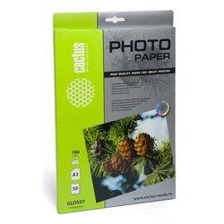 Фотобумага глянцевая А3 (50 листов) (Cactus CS-GA318050) - БумагаОбычная, фотобумага, термобумага для принтеров<br>Предназначена для печати цифровых фотографий с максимальным разрешением.