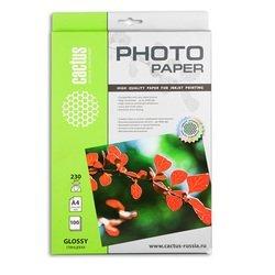 Фотобумага глянцевая А4 (100 листов) (Cactus CS-GA4230100) - БумагаОбычная, фотобумага, термобумага для принтеров<br>Предназначена для печати цифровых фотографий с максимальным разрешением.
