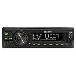 SoundMAX SM-CCR3047F - АвтомагнитолаАвтомагнитолы<br>SoundMAX SM-CCR3047F - автомагнитола 1 DIN, воспроизведение MP3, макс. мощность 4 x 45 Вт, воспроизведение с USB-накопителя, аудиовход на передней панели, радиоприемник  с RDS, поддержка карт памяти SD