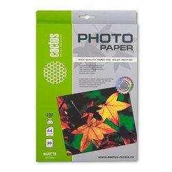 Фотобумага матовая А4 (50 листов) (Cactus CS-MA423050) - БумагаОбычная, фотобумага, термобумага для принтеров<br>Будет незаменима при высококачественной печати фотографий.