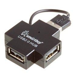 Концентратор USB 2.0 (SmartBuy SBHA-6900-K) (черный) - USB HUB