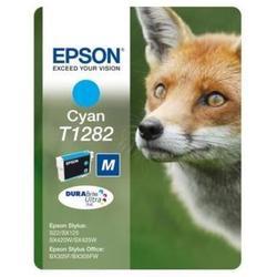 Картридж для Epson Stylus S22, SX125, SX420W, SX425W, Office BX305F (Epson T1282) (голубой) - Картридж для принтера, МФУКартриджи<br>Совместим с моделями: Epson Stylus S22, SX125, SX420W, SX425W, Office BX305F