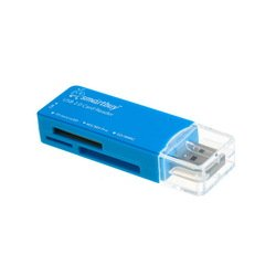 Картридер All in 1 USB 2.0 (SmartBuy SBR-749-B) (синий)