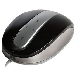 modecom mc-802 4-directional optical mouse with touchpad black-silver usb
