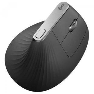 Logitech MX Vertical Wireless Mouse GRAPHITE - МышьМыши<br>4 настраиваемые кнопки (по умолчанию им назначены значения «Назад/Вперед», «Чувствительность», «Функция центральной кнопки»). Высокоточное колесико прокрутки.