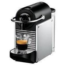 Delonghi EN 125 S Nespresso (серебро) - Кофеварка, кофемашинаКофеварки и кофемашины<br>Delonghi EN 125 Nespresso - эспрессо, автоматическая, для кофе в капсулах, регулировка порции воды, самоочистка от накипи, отключение при неиспользовании, металлический корпус