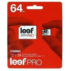 Leef PRO microSDXC Class 10 UHS-I U1 64GB + SD adapter - Карта флэш-памятиКарты флэш-памяти<br>Leef PRO microSDXC Class 10 UHS-I U1 64GB + SD adapter - карта памяти microSDXC, Class 10, объем 64 Гб, в комплекте адаптер на SD