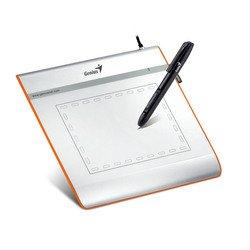Графический планшет Genius EasyPen i405X - Графический планшетГрафические планшеты<br>Genius EasyPen i405X - графический планшет, размер средний, 10х14 см, 1024 уровня чувствительности, разрешение 2540 строк/дюйм