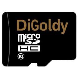 Digoldy microSDHC class 10 32GB + SD adapter - Карта флэш-памятиКарты флэш-памяти<br>Digoldy microSDHC class 10 32GB + SD adapter - карта памяти microSDHC, Class 10, объем 32 Гб, в комплекте адаптер на SD