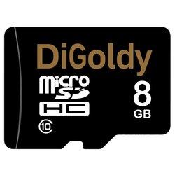 Digoldy microSDHC class 10 8GB + SD adapter - Карта флэш-памяти