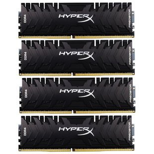 Оперативная память HyperX HX436C17PB3K4/64 - Память для компьютераМодули памяти<br>Оперативная память HyperX HX436C17PB3K4/64 - DDR4 3600 (PC 28800) DIMM 288 pin, 4x16 ГБ, 1.35 В, CL 17
