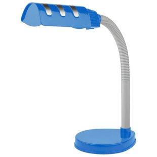 Настольная лампа ЭРА NE-302-E27-15W-BU - ОсвещениеНастольные лампы и светильники<br>Настольная лампа ЭРА NE-302-E27-15W-BU - офисная, стиль: $style, материал арматуры: пластик, материал плафона/абажура: пластик, количество лампочек: 1 шт., мощность: 15 Вт, напряжение: 220 В, степень пылевлагозащиты: IP20, тип цоколя: E27, регулировка наклона и поворота плафона