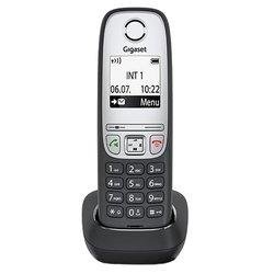 Gigaset A415H - РадиотелефонРадиотелефоны<br>Gigaset A415H - дополнительная трубка, поддержка стандартов DECT/GAP, громкая связь (спикерфон), определитель номеров (АОН/Caller ID), аккумуляторы: AAAx2, монохромный дисплей на трубке