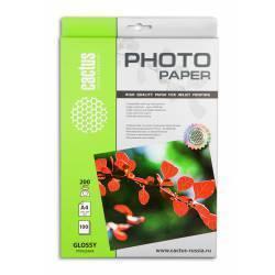 Фотобумага глянцевая A4 (100 листов) (Cactus CS-GA4200100) - БумагаОбычная, фотобумага, термобумага для принтеров<br>Предназначена для печати цифровых фотографий с максимальным разрешением.