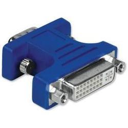 Адаптер DVI (f) - VGA 15 pin HDD (m) (Hama H-45074) (синий) - Кабель, переходникКабели, шлейфы<br>Переходник DVI-VGA HAMA H-45074 предназначен для передачи видеосигнала между устройствами у которых есть разъемы DVI и VGA.