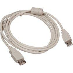 Кабель USB A (m) - USB A (f) 1.8 м (Buro USB2.0-AM/AF-1.8M-MG) (серый) - Кабель, переходникКабели, шлейфы<br>Кабель удлиннитель c одной стороны имеет разъем USB (m), а с другой стороны USB (f)